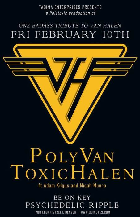 Tabima Enterprise presents PolyVan HalenToxic feat Adam Kilgus and Special guests