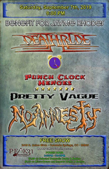 Benefit for Jayme Rhodes w/ Deathride/ PCH/