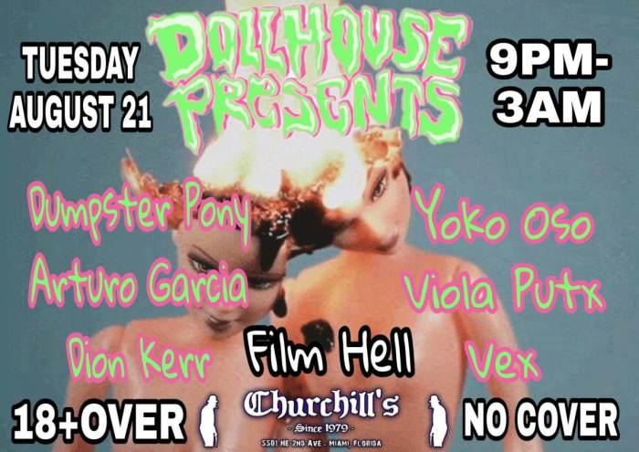 Dollhouse Presents... Live Music, Drag Shows, Film Club, DJ