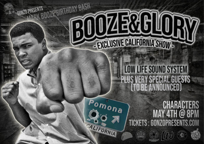 BOOZE and GLORY only Cali appearance