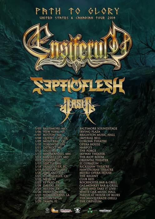 Ensiferum, Septicflesh, Arsis