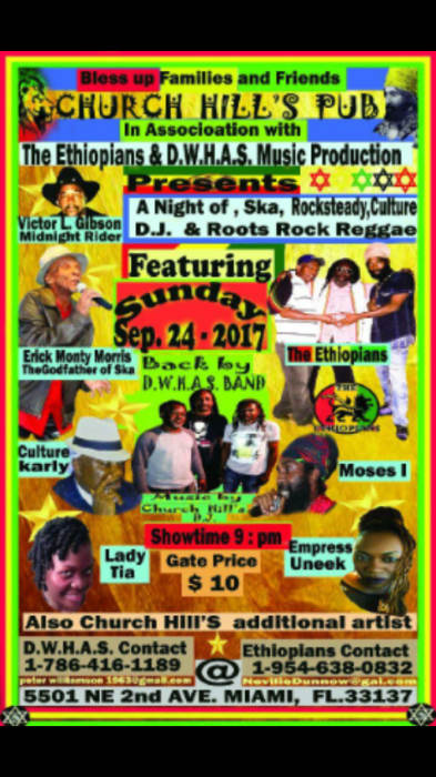 Roots Rock Reggae Night with Eric Monty Morris, The Ethiopians, Culture Carly, Moses I, Lady Trina, Empress Uneek, and more!