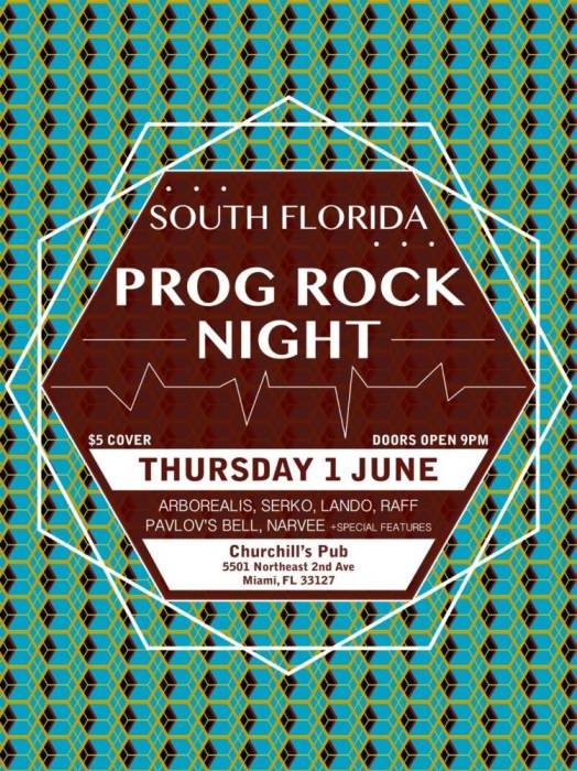 South Florida Prog Rock Night with Arborealis, Raff, Serko, Nuvia