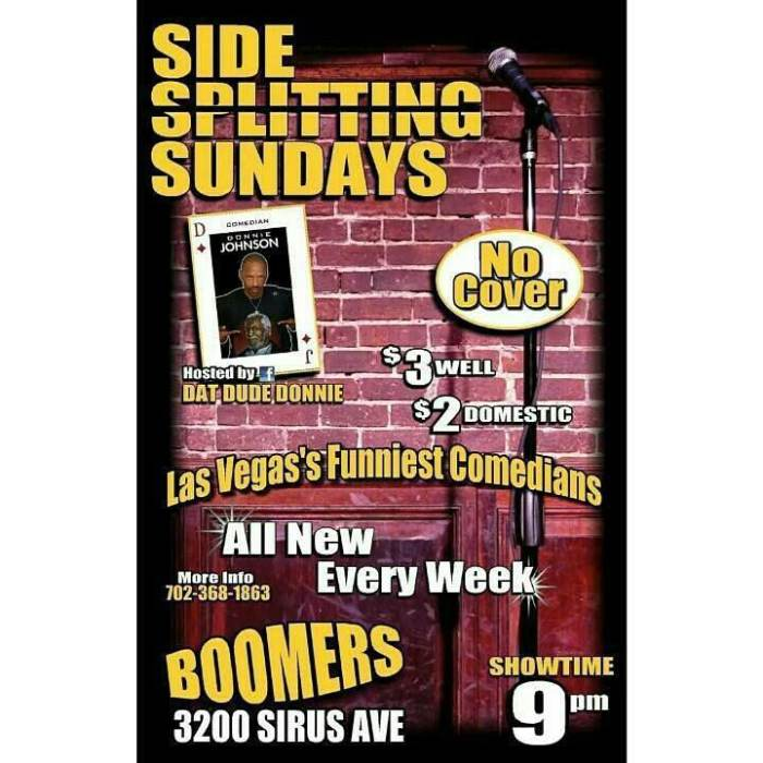 Side Splitting Sundays OPEN MIC Comedy Club Hosted by DatDude Donnie Johnson