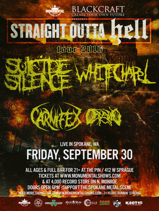 Suicide Silence and Whitechapel