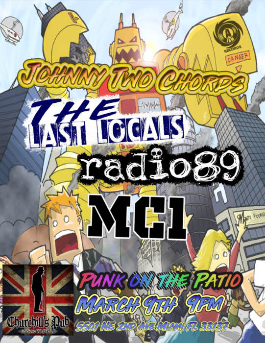 Punk Rock Patio Party with Radio89, Beat Obsolete, The Last Locals, and Johnny Two Chords!