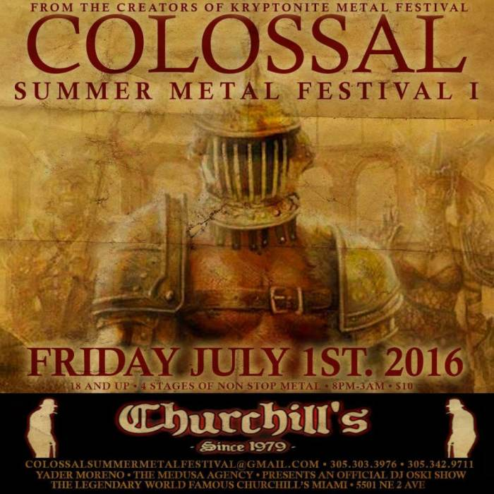THE COLOSSAL SUMMER METAL FESTIVAL - NOW BOOKING