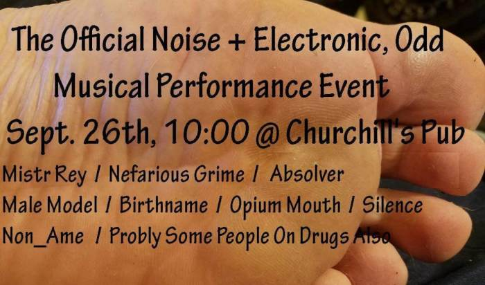 Official Noise and Electronic, Odd Musical Performance Event, in the green room