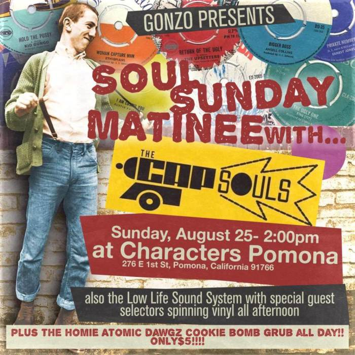 Soul Sunday Matinee The CAPSOULS