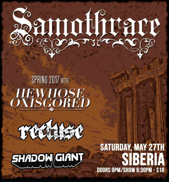 SAMOTHRACE | He Whose Ox is Gored | Recluse | Shadow Giant