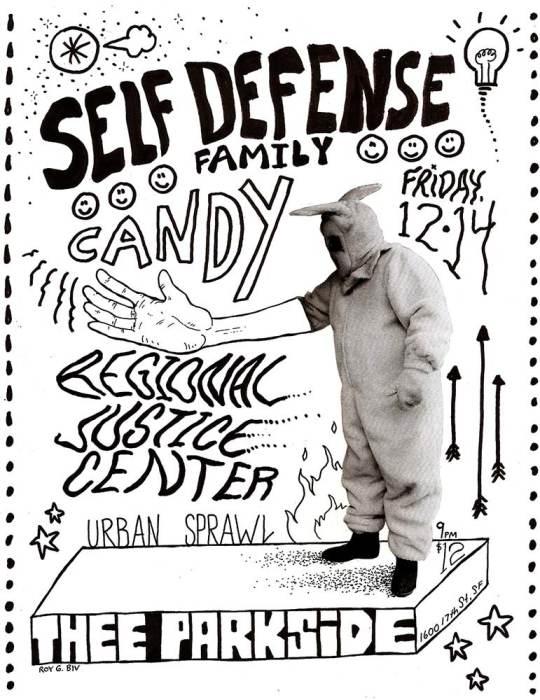 Self Defense Family, Candy, Regional Justice Center, Urban Sprawl