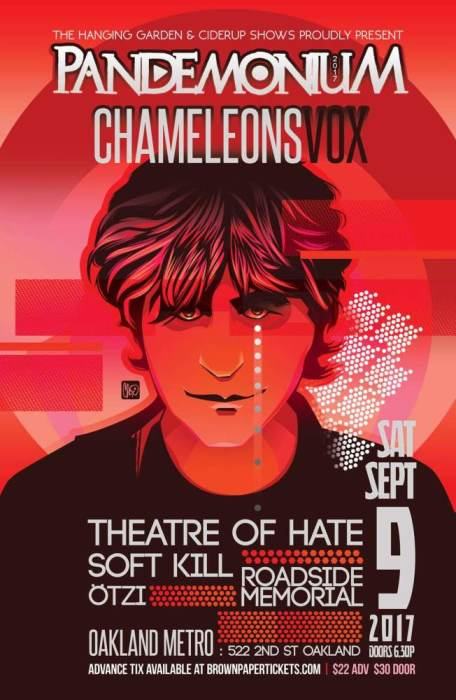 ChameleonsVox, Theatre of Hate, Soft Kill, Roadside Memorial, and Ötzi (Oakland)
