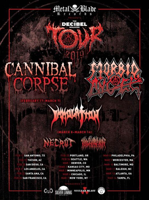 The Decibel Tour:  Cannibal Corpse & Morbid Angel
