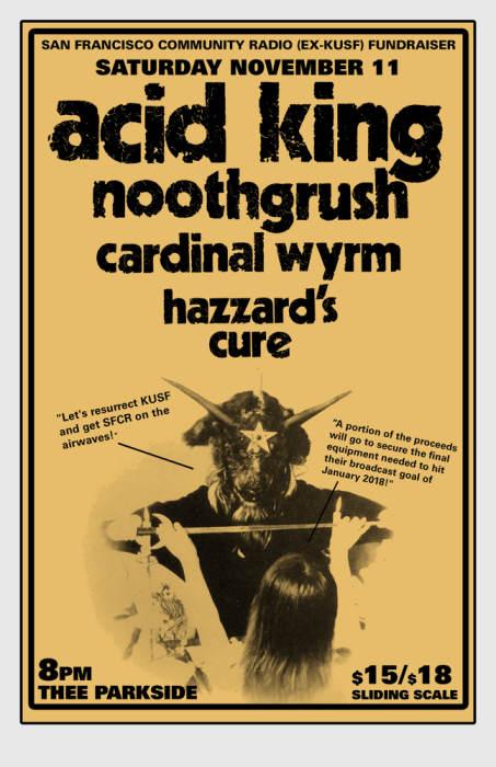 Acid King, Noothgrush, Cardinaly Wyrm, Hazzard