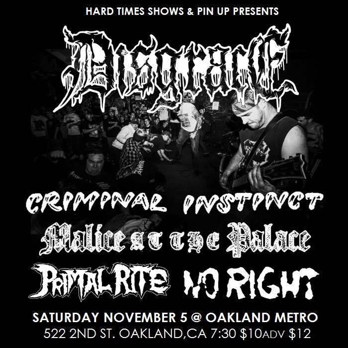 DISGRACE • CRIMINAL INSTINCT • MALICE AT THE PALACE • PRIMAL RITE • NO RIGHT
