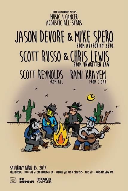 Jason Devore & Mike Spero (Authority Zero), Scott Russo & Chris Lewis (Unwritten Law), Scott Reynolds (ALL), Rami Krayem (Cigar)