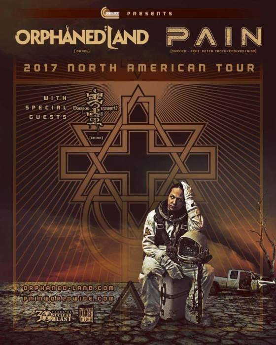 Orphaned Land,  Pain,  Voodoo Kungfu