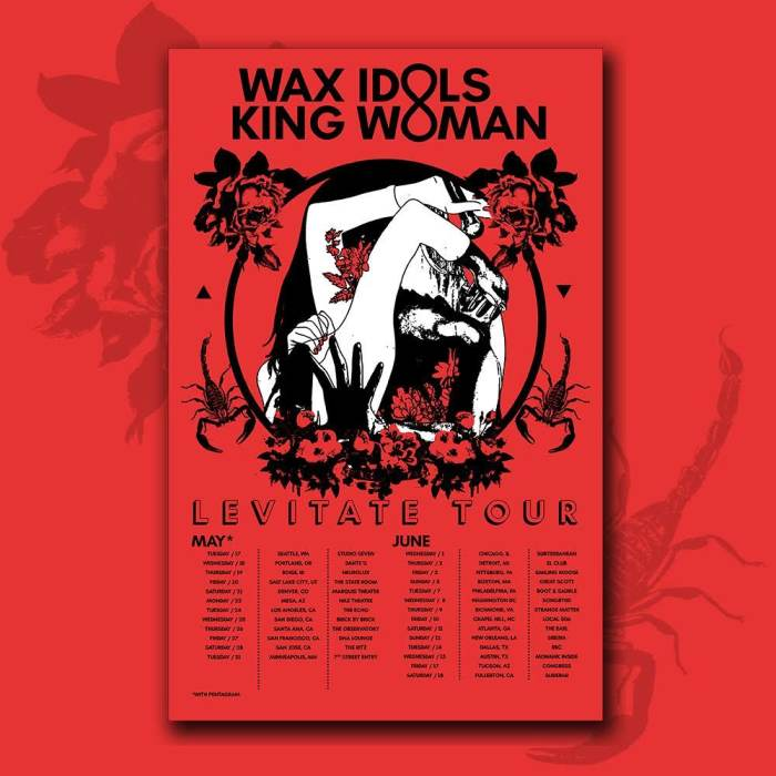 THE LEVITATE TOUR:  Wax Idols | King Woman | TBA