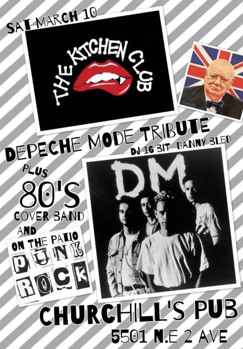 The Kitchen Club Presents a Depeche Mode Tribute with 16BIT, Danny Bled, Armada!, & a punk rock patio party!
