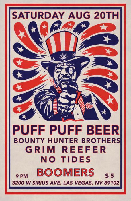 Puff Puff Beer/No Tides/Grim Reefer