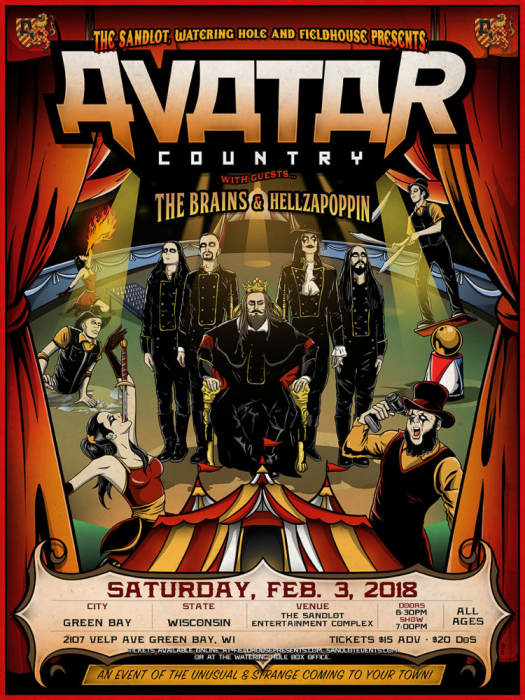 The King and AVATAR invite you to a metal spectacle of a lifetime!
