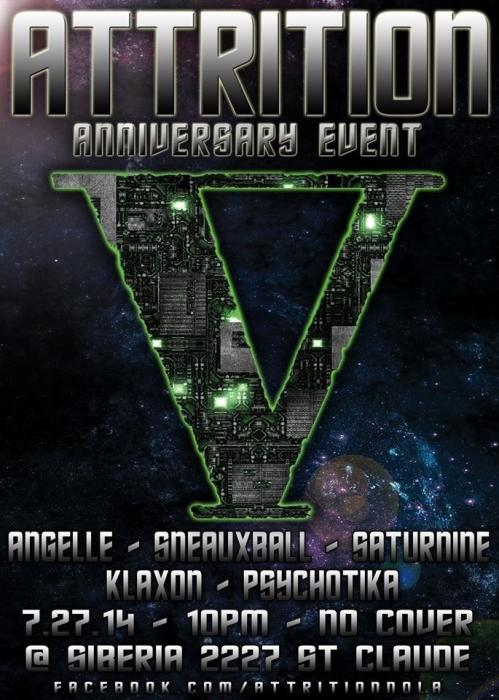 Attrition: Goth/Industrial Night - Five Year Anniversary!!