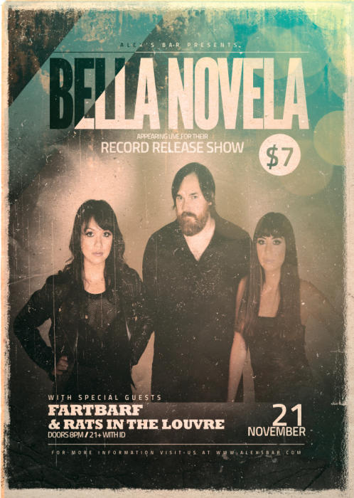 BELLA NOVELA RECORD RELEASE SHOW WITH: FARTBARF AND RATS LOUVRE