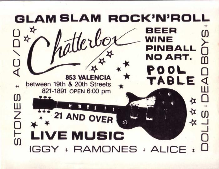The Resurrection of The Chatterbox Bar - For One Night Only!