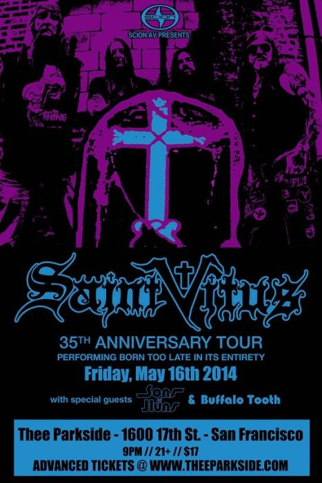 Saint Vitus, Sons of Huns, Buffalo Tooth