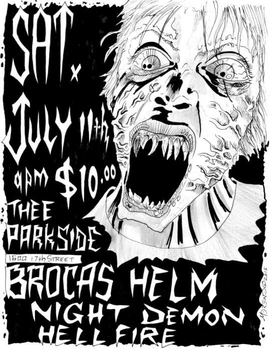 Brocas Helm, Night Demon, Hell Fire