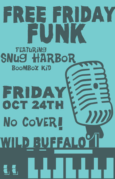 Free Funk Friday ft. Snug Harbor, Boombox Kid