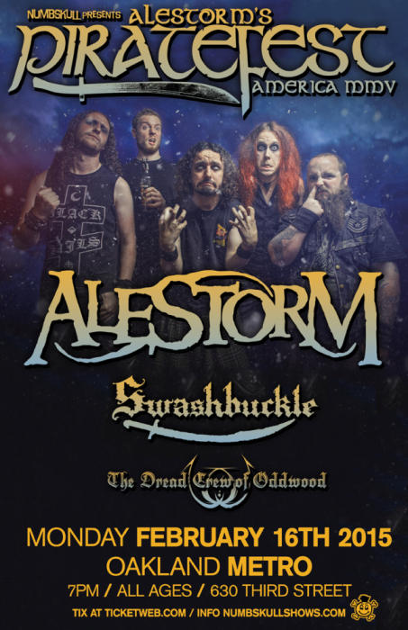 Alestorm / Swashbuckle / The Dreadcrew of Oddwood