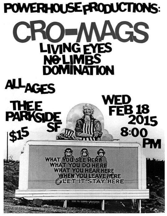 Cro-Mags, Living Eyes, No Limbs, Domination