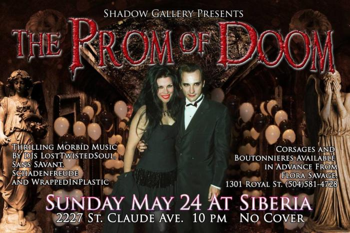 Shadow Gallery and Attrition present: THE PROM OF DOOM