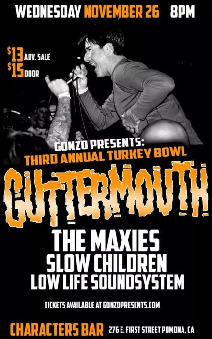 3rd Annual GUTTERMOUTH Turkey Bowl