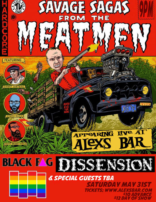 THE MEATMEN, BLACK FAG, DISSENSION, SPECIAL GUESTS