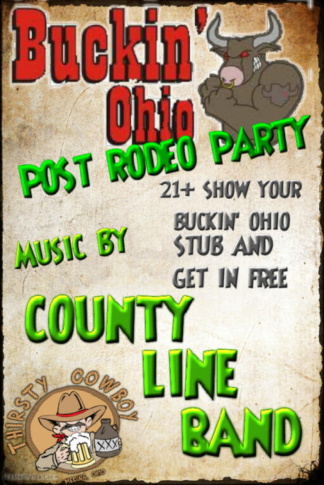 BUCKIN OHIO POST RODEO PARTY W/ COUNTY LINE BAND