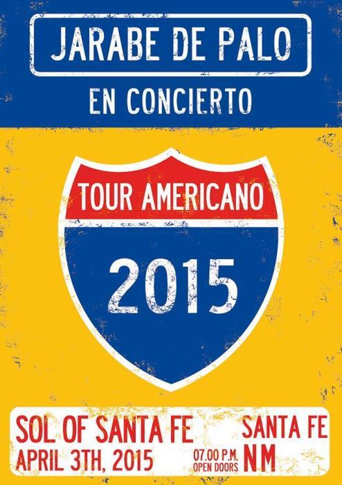 JARABE DE PALO  Tour Americano 2015