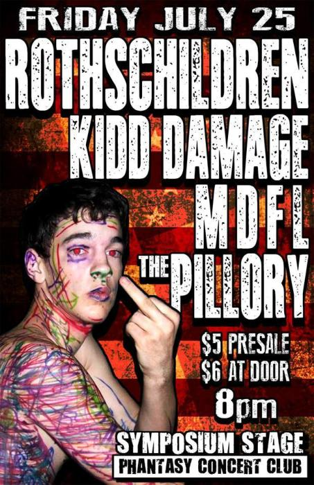 The Symposium Nite Club Presents the debut of ROTHS CHILDREN with special guests MDFL /The Pillory/KIDD DAMAGE!