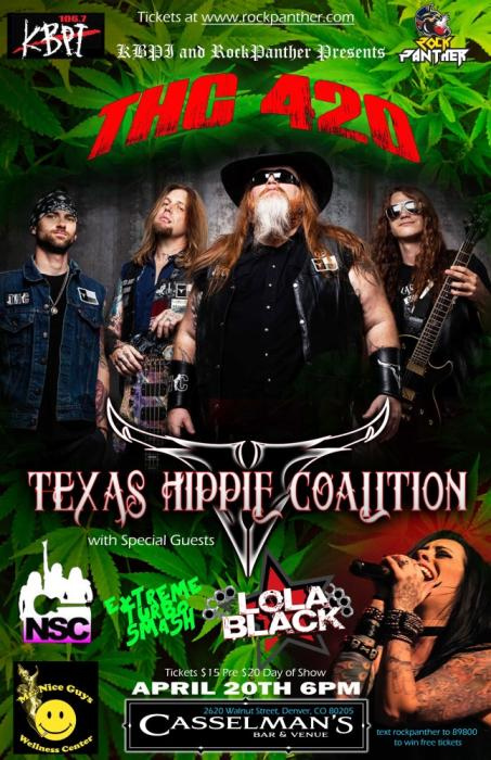 THC on 420! Texas Hippie Coalition with Lola Black