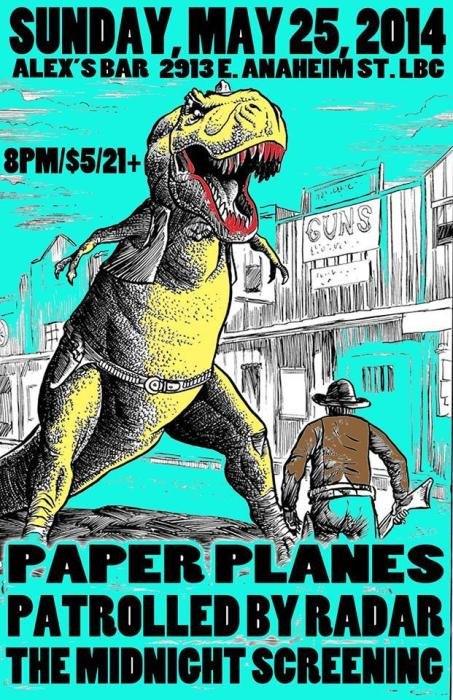 PAPER PLANES, PATROLLED BY RADAR, THE MIDNIGHT SCREENING