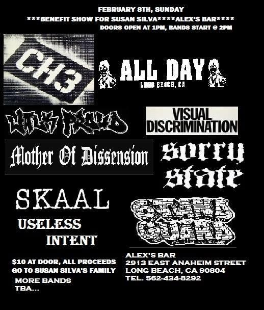 CH3, ALLDAY, WALK PROUD, MOTHER OF DISSENSION, VISUAL DISCRIMINATION, SORRY STATE, SKAAL, USELESS INTENT, STAND GUARD, AND MORE!