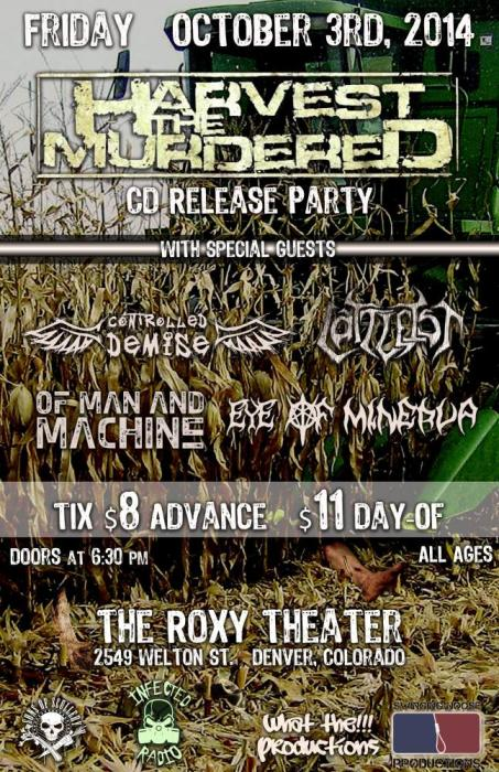 Harvest the Murdered CD RELEASE SHOW!!
