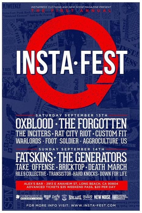 INSTAFEST DAY 1: OXBLOOD, THE FORGOTTEN, THE INCITERS, RAT CITY RIOT, CUSTOM FIT, WARLORDS, FOOT SOLDIER, AGGROCULTURE US