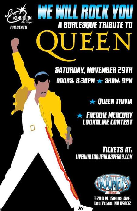 We Will Rock You ... a burlesque tribute to Queen