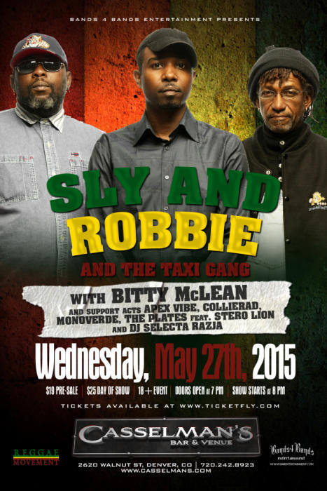 Sly and Robbie and The Taxi Gang with Bitty Mclean
