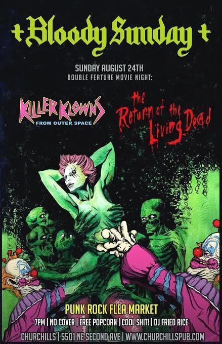 + Black Sunday + Double Feature B Horror Movie & Punk Rock Flea Market