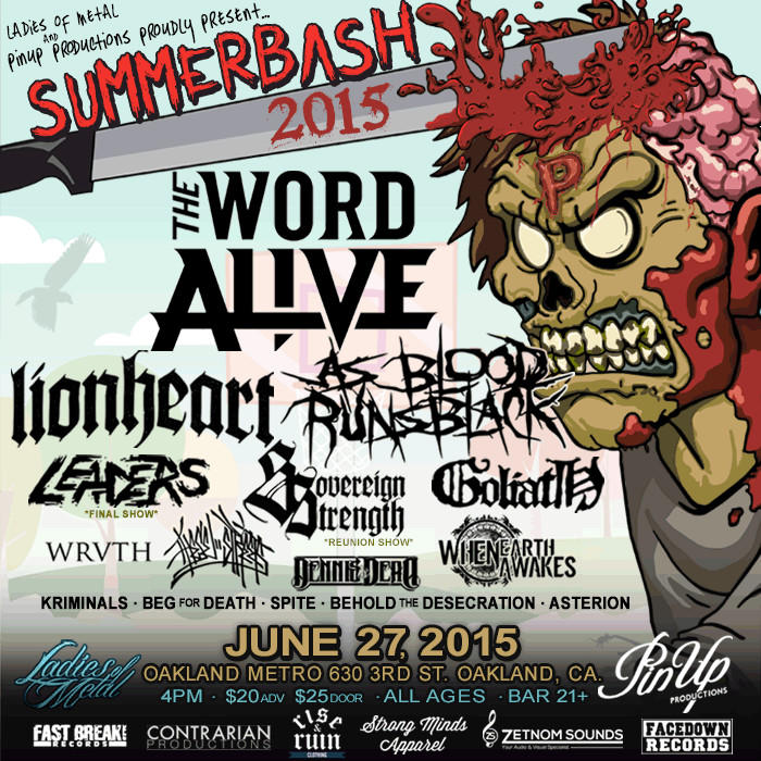 The Word Alive, Lionheart, As Blood Runs Black, Leaders (Final Show) + MORE