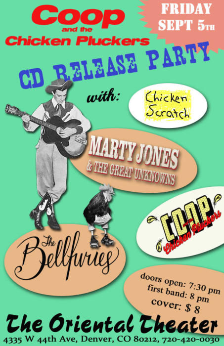 Coop & the Chicken Pluckers (CD release party) w/ The Bellfuries