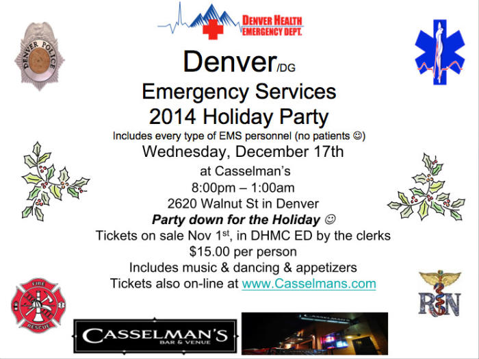 Denver Emergency Services 2014 Holiday Party